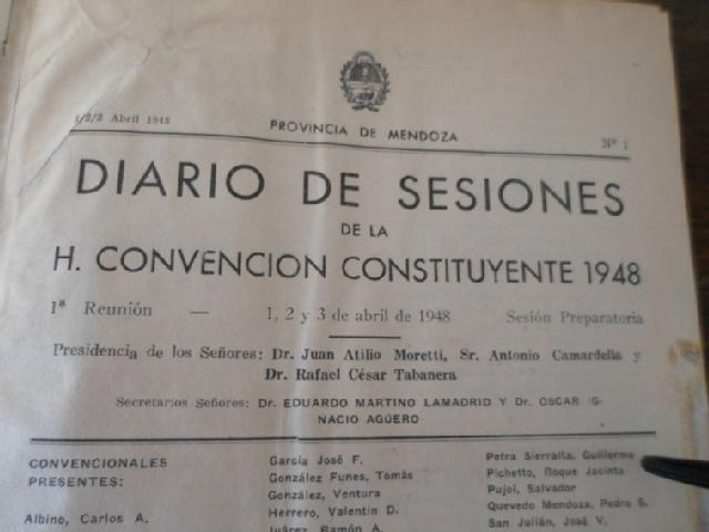 LA CONSTITUCIÓN MENDOCINA DE 1949 (primeraparte)
